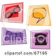 Royalty Free RF Clipart Illustration Of A Digital Collage Of Colorful Online Squares