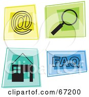 Royalty Free RF Clipart Illustration Of A Digital Collage Of Colorful Internet Squares by Prawny