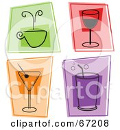 Digital Collage Of Colorful Beverage Squares