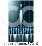 Royalty Free RF Clipart Illustration Of A Successor Standing High Above Others