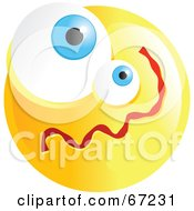 Royalty Free RF Clipart Illustration Of A Yellow Confused Emoticon Face Version 1