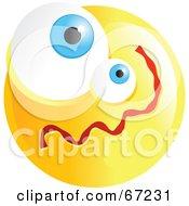 Yellow Confused Emoticon Face - Version 1