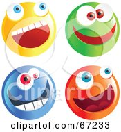 Royalty Free RF Clipart Illustration Of A Digital Collage Of Happy Emoticon Face Smileys