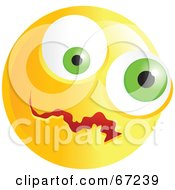 Royalty Free RF Clipart Illustration Of A Yellow Confused Emoticon Face Version 2