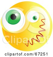 Royalty Free RF Clipart Illustration Of A Yellow Confused Emoticon Face Version 4
