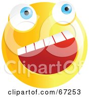 Royalty Free RF Clipart Illustration Of A Happy Yellow Emoticon Face Smiley by Prawny