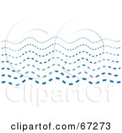 Royalty Free RF Clipart Illustration Of Blue Dotted Waves by Prawny