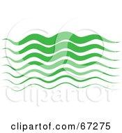 Royalty Free RF Clipart Illustration Of Green Curvy Waves by Prawny