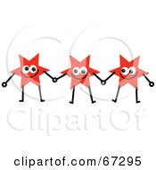 Team Of Red Stars Holding Hands