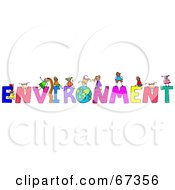 Children With ENVIRONMENT Text