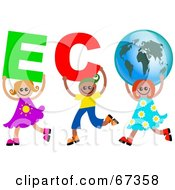 Children Carrying ECO Text