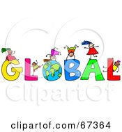 Children With GLOBAL Text