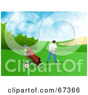 Royalty Free RF Clipart Illustration Of A Male Golfer Aiming by Prawny
