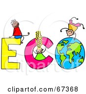 Children With ECO Text