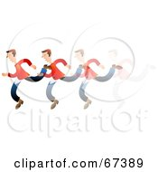 Royalty Free RF Clipart Illustration Of A Running Man In Motion