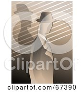 Royalty Free RF Clipart Illustration Of A Sepia Gangster In Profile