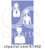 Royalty Free RF Clipart Illustration Of A White Group Of Men And Women On Purple by Prawny