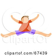 Royalty Free RF Clipart Illustration Of A Little Boy Leaping by Prawny