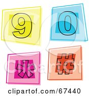 Royalty Free RF Clipart Illustration Of A Digital Collage Of Square Number Icons 9 Through 0
