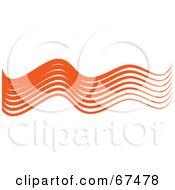 Royalty Free RF Clipart Illustration Of Orange Wavy Lines by Prawny