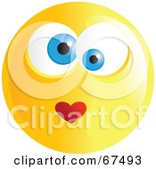Royalty Free RF Clipart Illustration Of An Amorous Yellow Emoticon Face Version 4