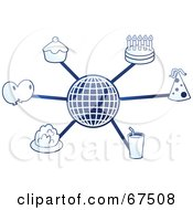 Royalty Free RF Clipart Illustration Of A Blue Molecule Party Globe by Prawny