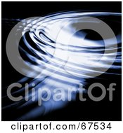 Royalty Free RF Clipart Illustration Of A Surface Of Blue Rippled Water
