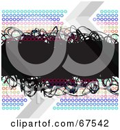 Royalty Free RF Clipart Illustration Of A Rainbow Circle Background With A Black Scribble Text Box On White