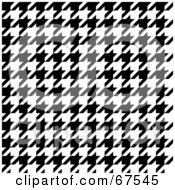 Royalty Free RF Clipart Illustration Of A Tight Weave Black And White Houndstooth Patterned Background
