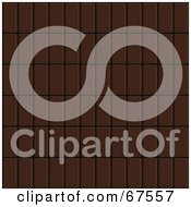 Royalty Free RF Clipart Illustration Of A Background Of Dark Chocolate Bars In Rows by Arena Creative