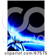 Royalty Free RF Clipart Illustration Of A Glowing Blue Fractal On Black