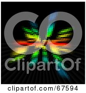 Royalty Free RF Clipart Illustration Of A Blurry Colorful Horizon On Black
