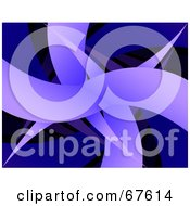 Royalty Free RF Clipart Illustration Of A Blue Abstract Sharp Swoosh Background On Black