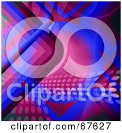 Royalty Free RF Clipart Illustration Of A Retro Background With Pink And Blue Curves And Dots