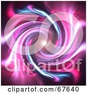 Royalty Free RF Clipart Illustration Of A Bright Orb At The End Of A Pink Fractal Tunnel