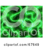 Royalty Free RF Clipart Illustration Of A Green Electric Plasma Background by Arena Creative