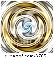 Royalty Free RF Clipart Illustration Of A Whirlpool Background Of Gold Water by Arena Creative