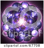 Royalty Free RF Clipart Illustration Of A Bubbly Purple Fractal