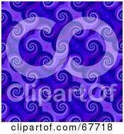 Royalty Free RF Clipart Illustration Of A Trendy Spiraling Blue Pattern Background