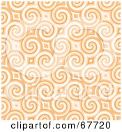 Royalty Free RF Clipart Illustration Of A Trendy Spiraling Orange Pattern Background by Arena Creative