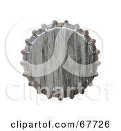 Royalty Free RF Clipart Illustration Of A Metal Bottlecap On White by Arena Creative #COLLC67726-0094