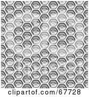 Royalty Free RF Clipart Illustration Of A Light Shiny Honeycomb Background by Arena Creative