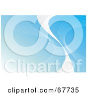 Royalty Free RF Clipart Illustration Of White Lines And A White Swoosh On Blue
