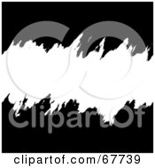 Royalty Free RF Clipart Illustration Of A Torn White Text Box Through Black