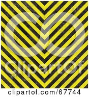 Royalty Free RF Clipart Illustration Of A V Angled Yellow And Black Hazard Stripe Background