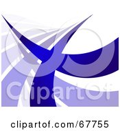 Royalty Free RF Clipart Illustration Of A Blue Swoosh Line On White Background Version 1