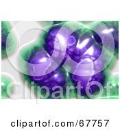 Royalty Free RF Clipart Illustration Of A Slimy Purple And Green Microscopic Organism On White by Arena Creative