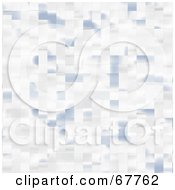 Royalty Free RF Clipart Illustration Of A Pastel Blue And White Tile Background by Arena Creative