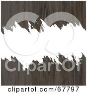 Royalty Free RF Clipart Illustration Of A White Torn Text Box Through Brown Rusted Metal