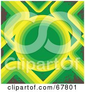 Royalty Free RF Clipart Illustration Of A Green Brown And Yellow Circle Background